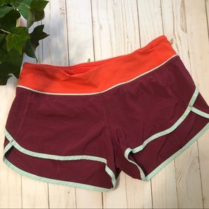 RARE Lululemon Speed up Shorts Brick Red Orange 6